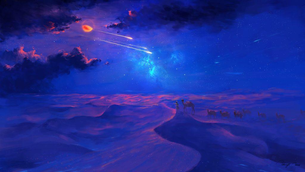 Desert nights by bisbiswas